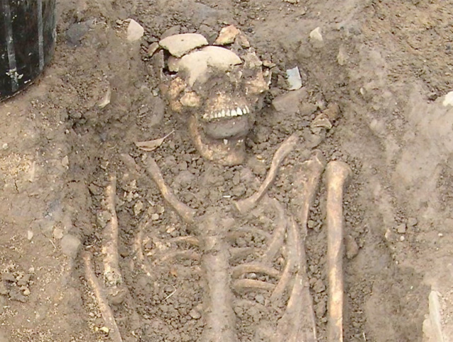 Image of Medieval zombie skeleton